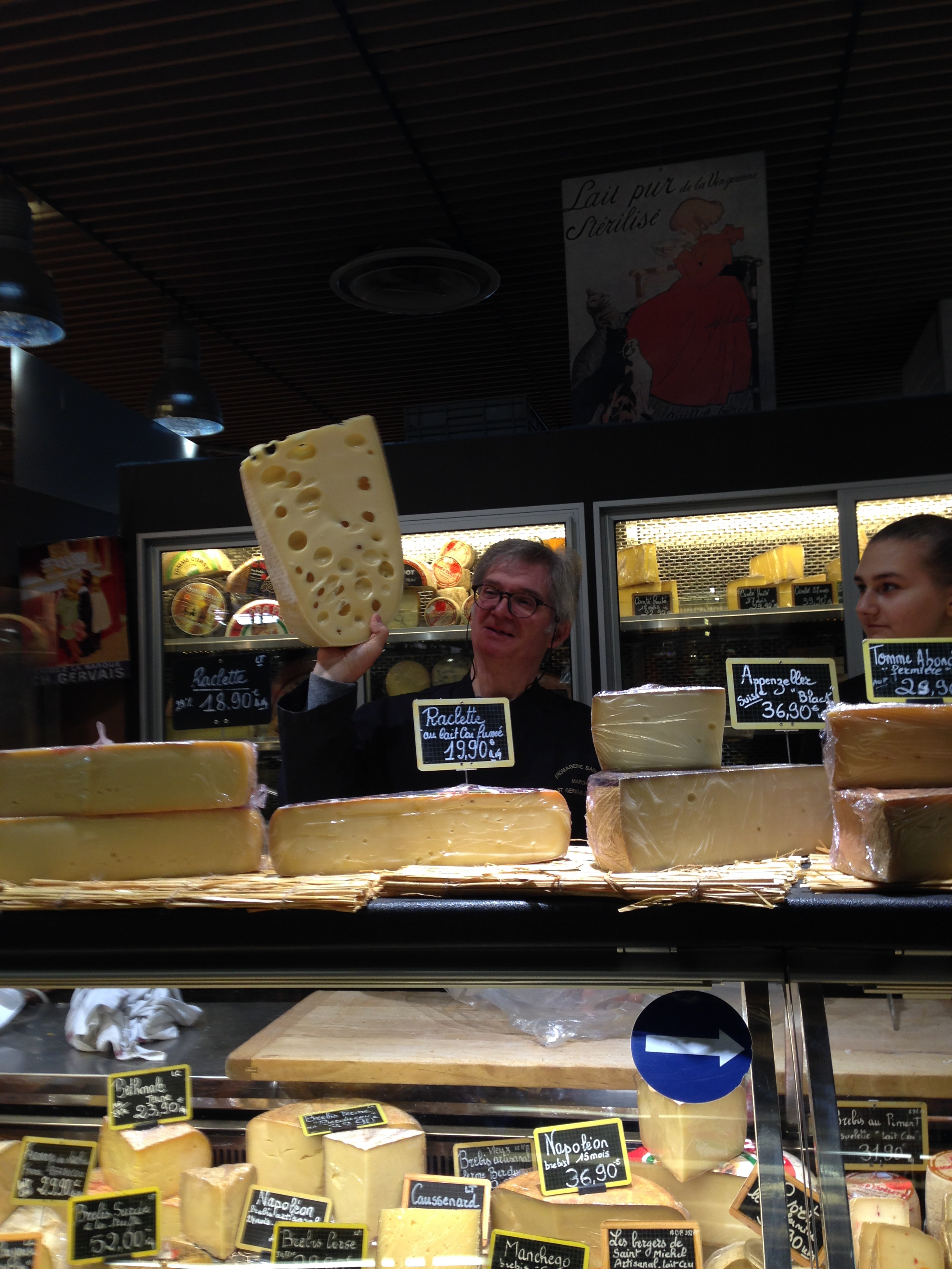 Cheese in St. Germain Market Paris