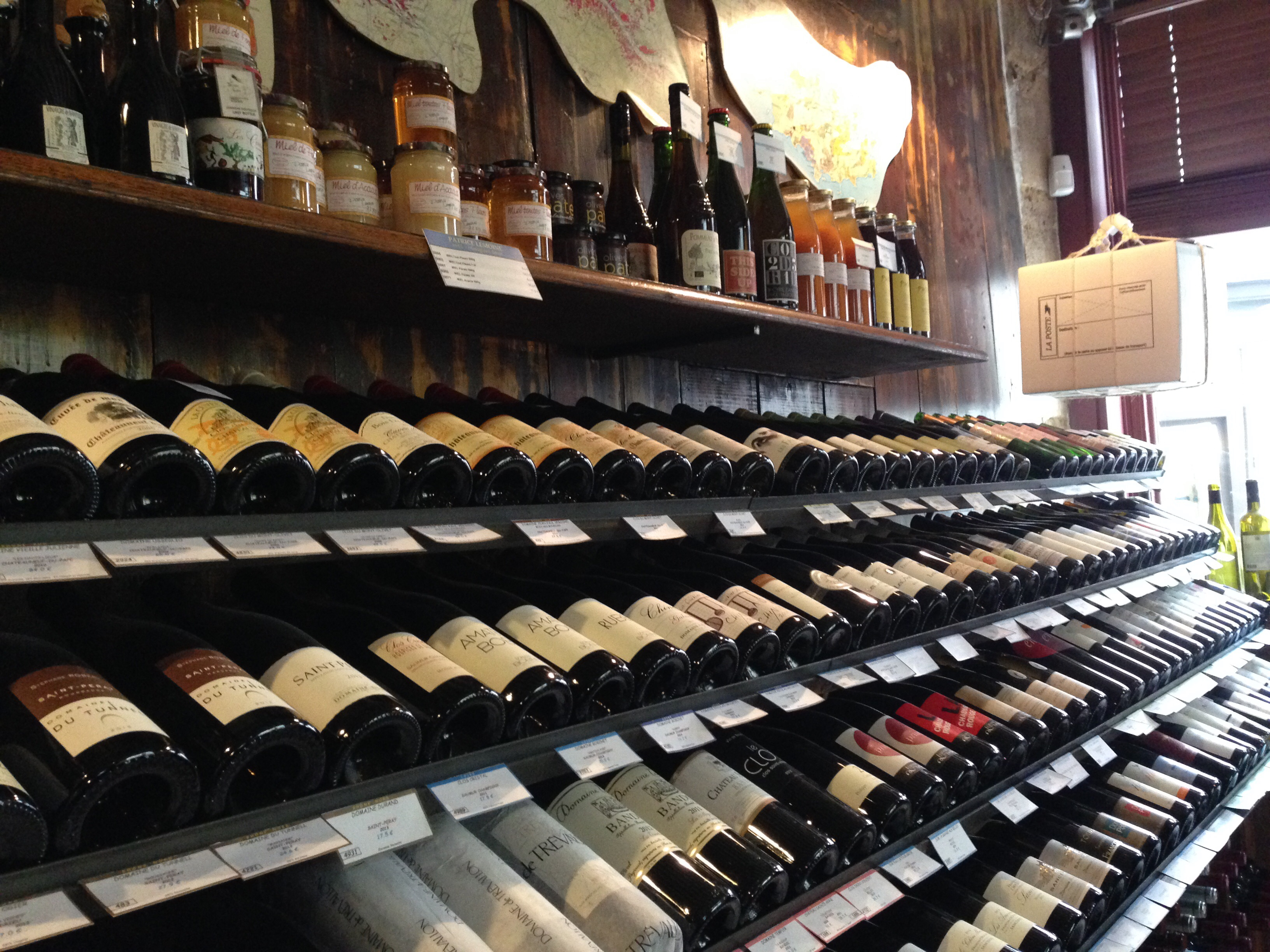 Wine bottles in Paris