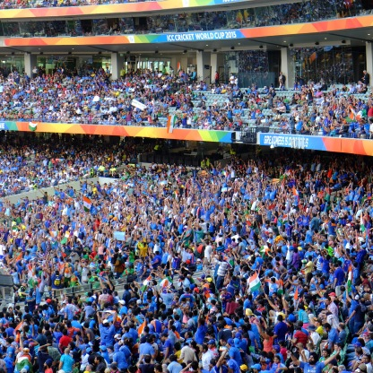 The sea of blue at Melbourne Cricket Ground