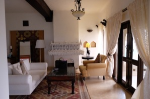 The Suite living area of the luxurious Mihirgarh at Jaisalmer
