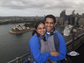 View from atop the Sydney Harbour Bridge