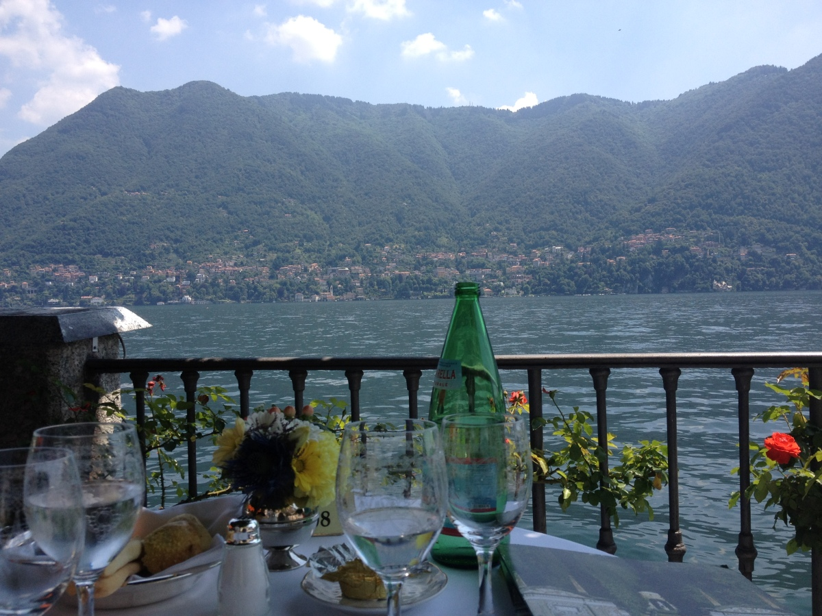 Dining by the water, Lake Como, Italy