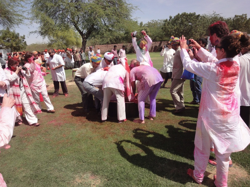 Onlookers oversee fascinating festivities - Holi at Umaid Bhawan Palace, Jodhpur