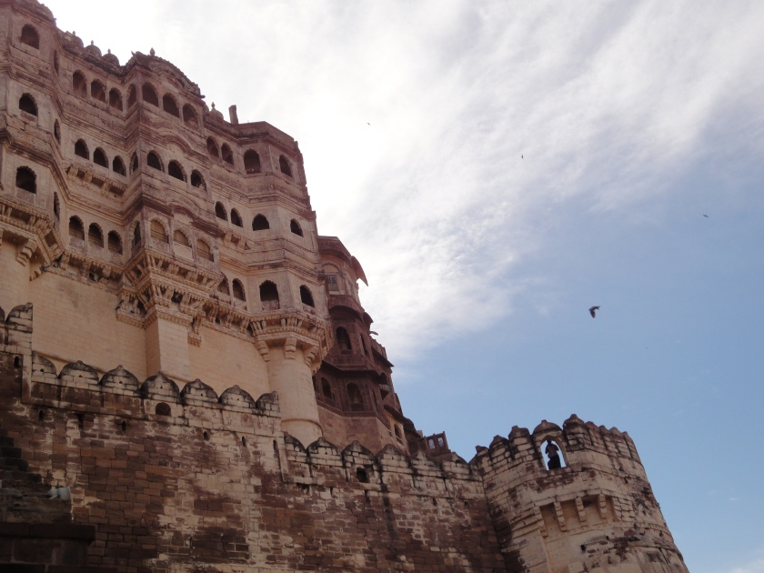 Blue skies over Mehrangarh fort in the blue city