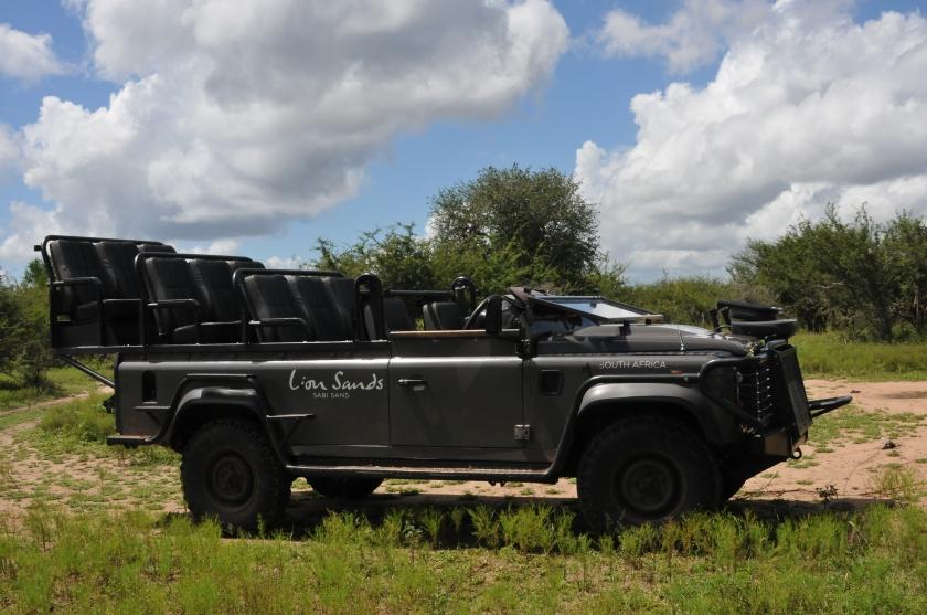 Land Rover at Lion Sands In Sabi Sands Reserve at Kruger National Park, South Africa