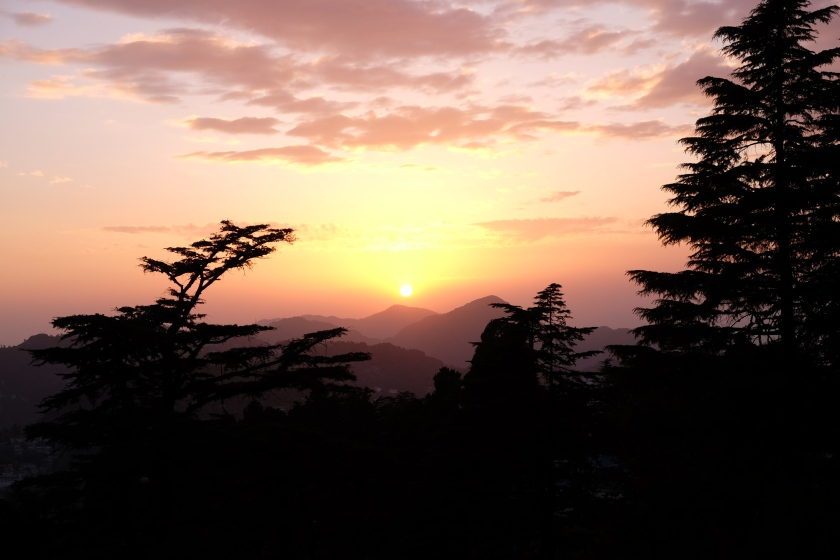 Sunset over the queen of the hills - Mussoorie and Landour, Uttarakhand, India