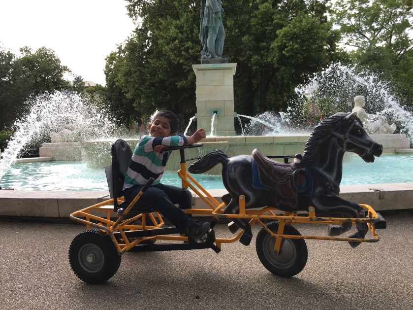 Cool trikes in Champ de Mars park, Colmar