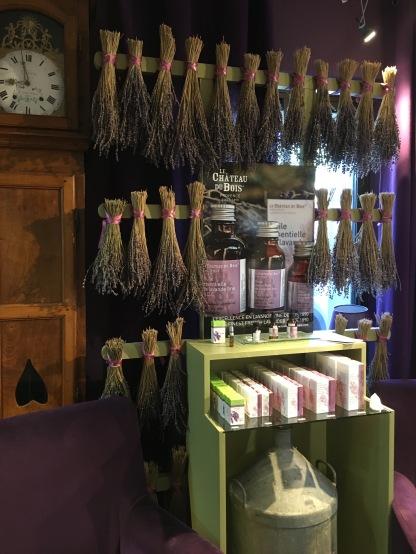 Le Château Du Bois Products at the Lavender Museum, Coustellet