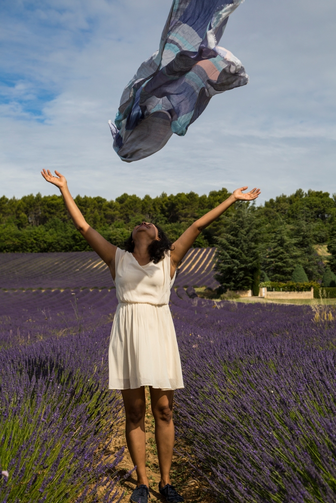 Photo shoot in the lavender field near Joucas, Provence